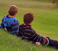 Two guys on a hillside - Photo Copyright TeeBe